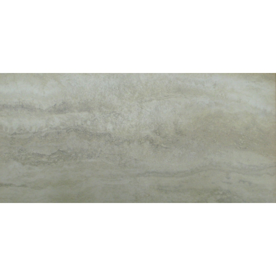 Style Selections 12-in x 24-in Groutable Oyster Peel-and-Stick Travertine Residential Vinyl Tile