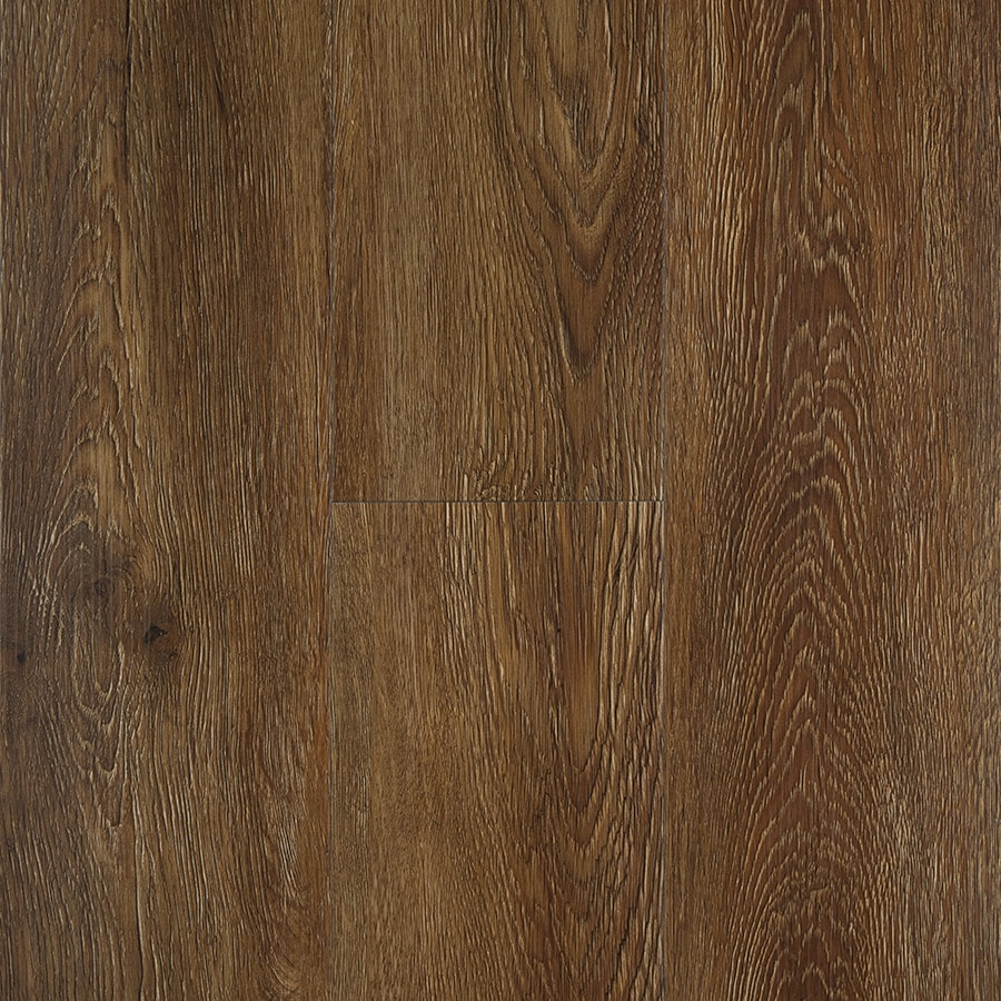 STAINMASTER 10-Piece 5.74-in x 47.74-in Burnished Auburn/Brown Floating Oak Luxury Commercial/Residential Vinyl Plank