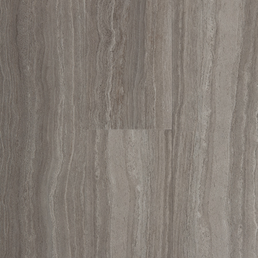 Shop stainmaster 6 in x 24 in groutable chateau light gray for Luxury vinyl flooring