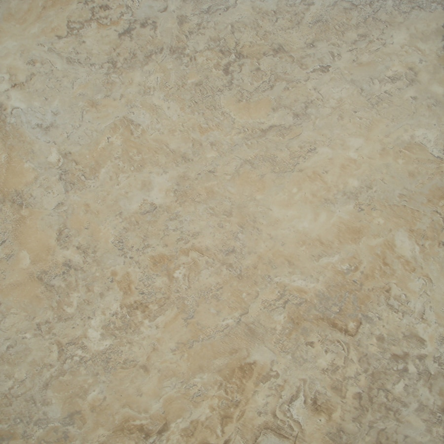 Shop stainmaster 18 in x 18 in groutable crushed shell for Industrial stone vinyl tile