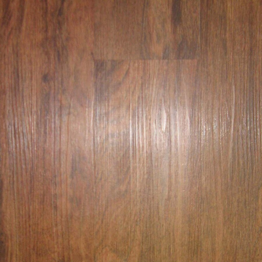 Style Selections 6-in x 48-in Cherry Peel-and-Stick Residential Vinyl Plank