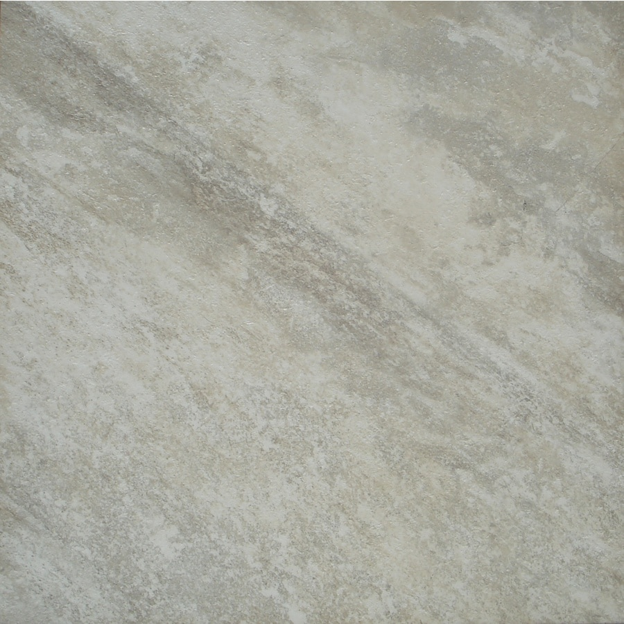 STAINMASTER 18-in x 18-in Groutable White Peel-and-Stick Travertine Luxury Commercial Vinyl Tile