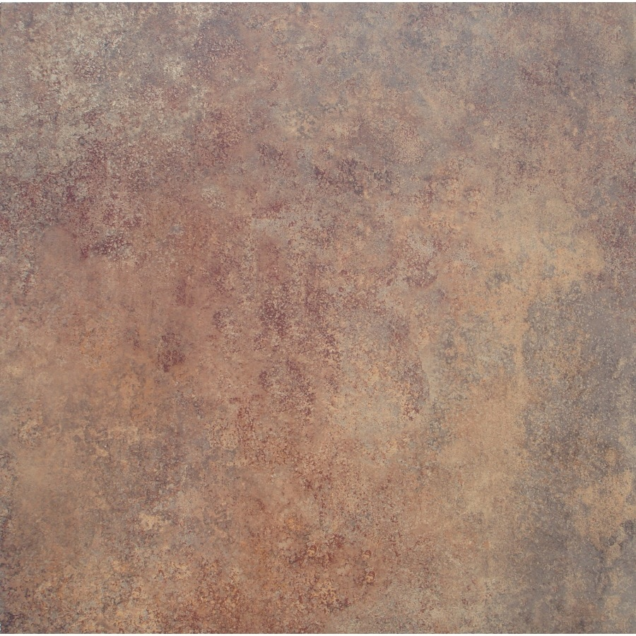 STAINMASTER 18-in x 18-in Groutable Rust Peel-and-Stick Stone Luxury Commercial Vinyl Tile