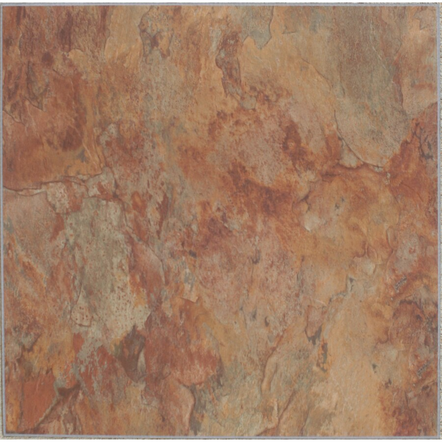 Novalis Home Fashion 10-Piece Copper Slate Peel-And-Stick Vinyl Tile