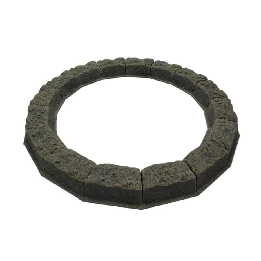 Dekorra Cottage Gray Tree Ring Polyethylene Edging Stone (Common: 4-in x 10-in; Actual: 4-in H x 10-in L)