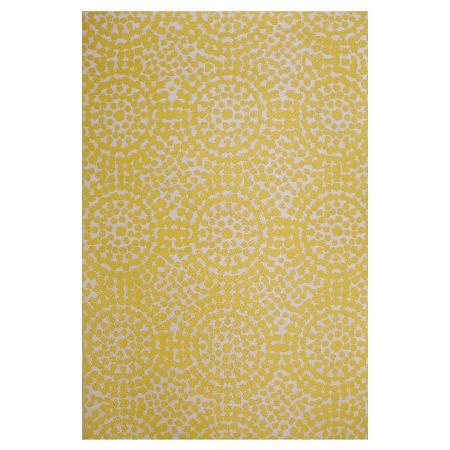 Garden Treasures Gt Patio Mat 5 X 8 Yellow Indoor Outdoor Geometric Area Rug In The Rugs Department At Lowes Com