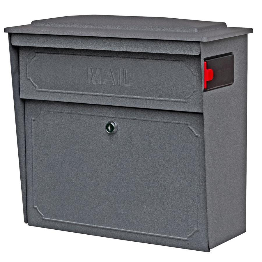 Mail Boss Townhouse 15.75-in x 16-in Metal Granite Lockable Wall Mount Mailbox
