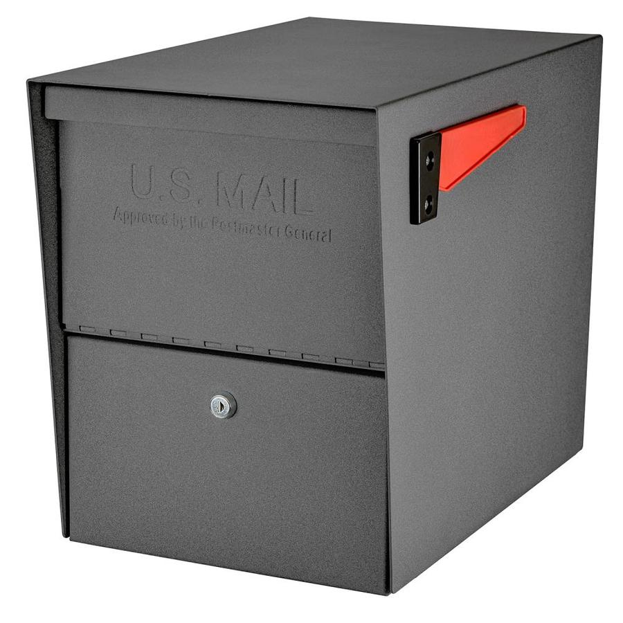Mail Boss Package Master 12-in x 16.5-in Metal Granite Lockable Post Mount Mailbox