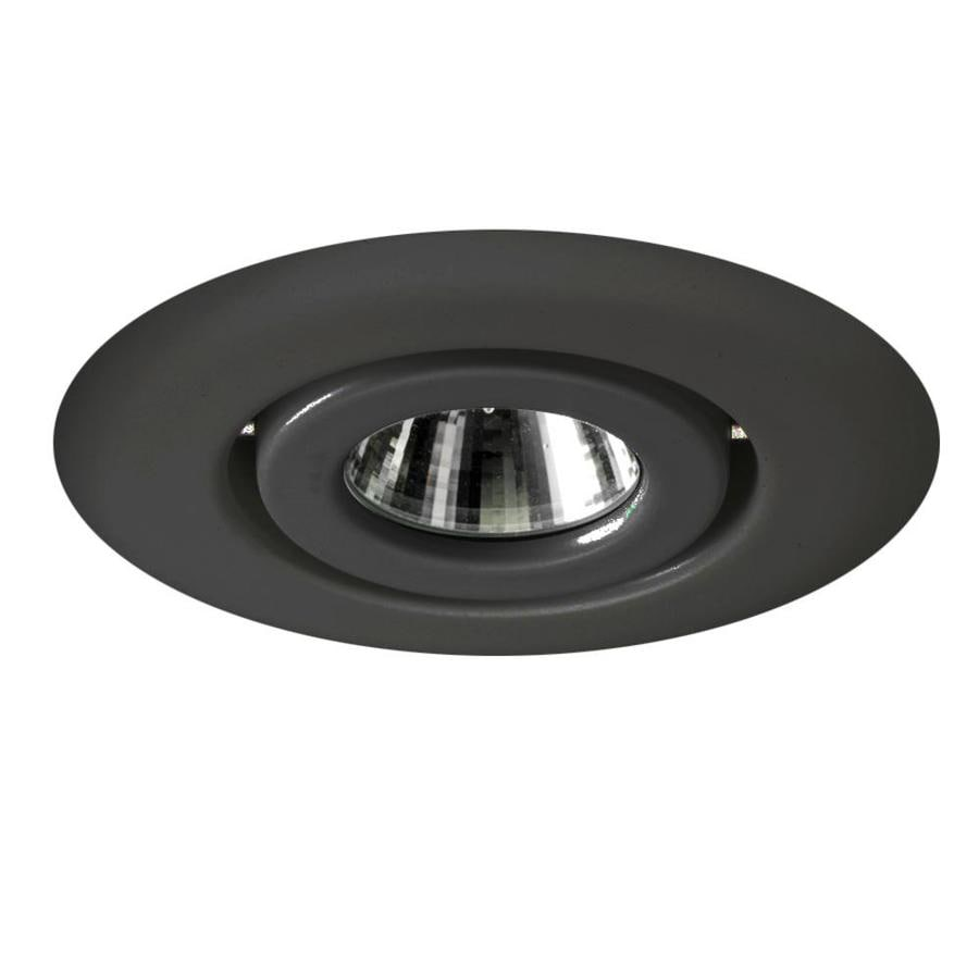 shop juno black gimbal recessed light trim fits housing. Black Bedroom Furniture Sets. Home Design Ideas