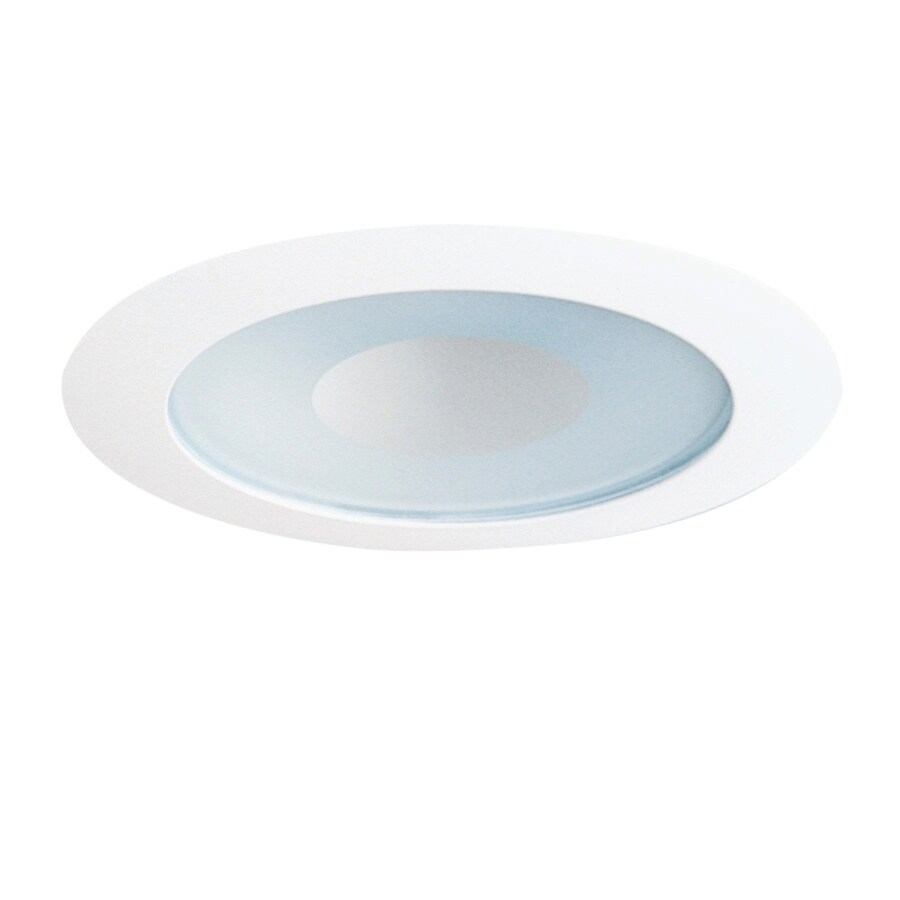 Recessed Lighting Housing For Shower : Juno white shower recessed light trim fits housing