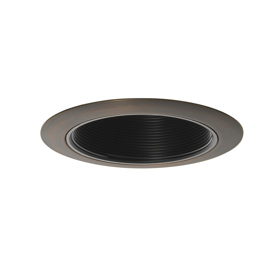 Juno Hand Rubbed Bronze Baffle Recessed Light Trim (Fits Housing Diameter: 4-in)