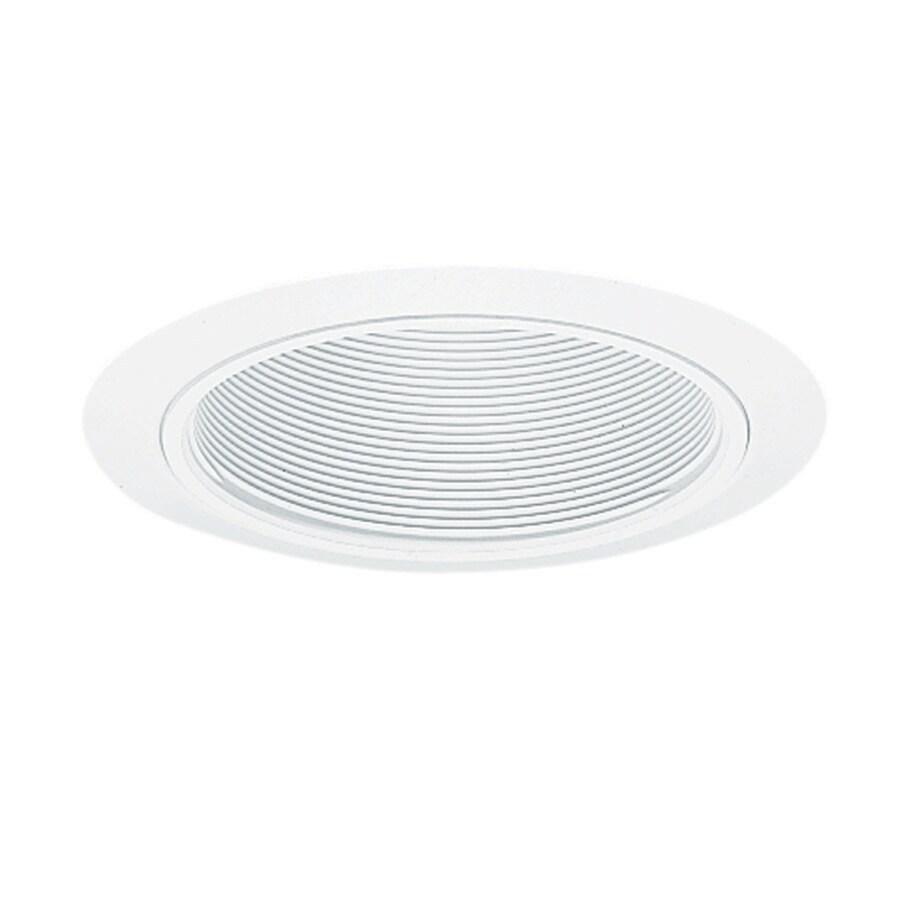 Juno White/White Baffle Recessed Light Trim (Fits Housing Diameter: 5-in)