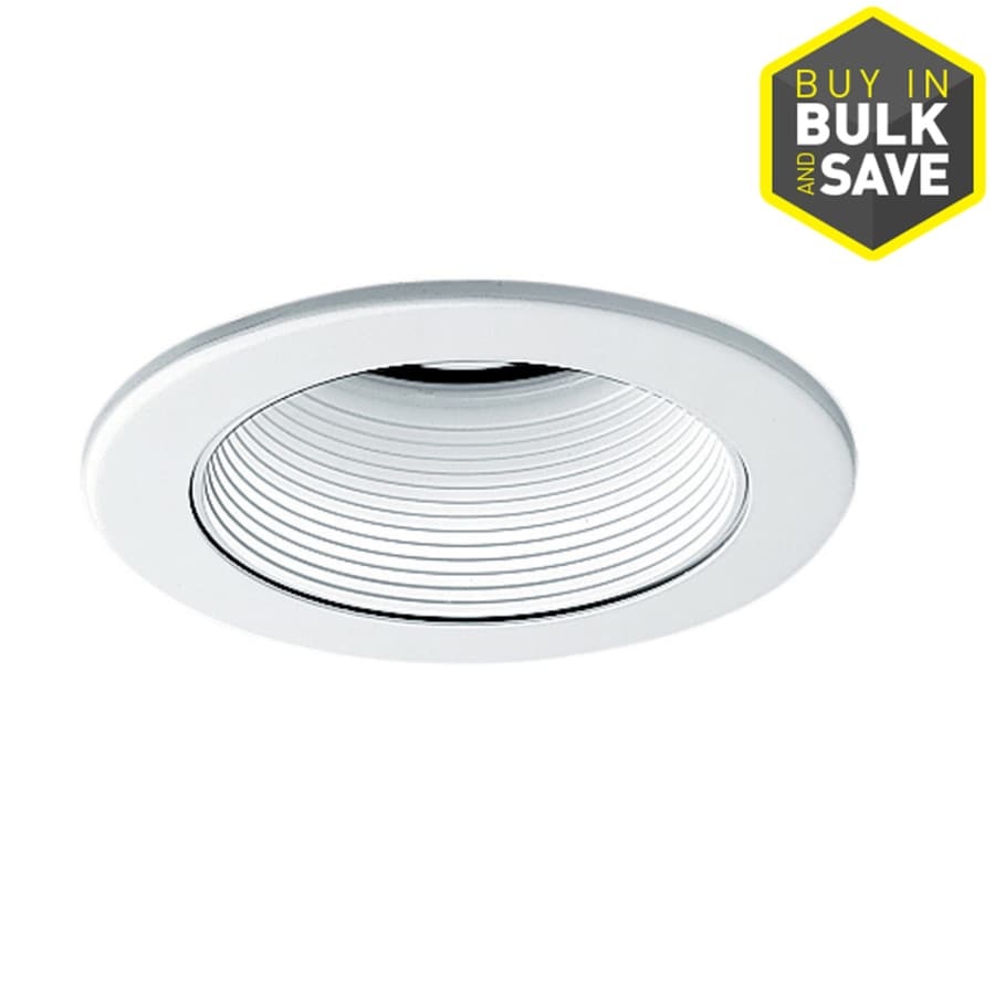 Juno White/White Baffle Recessed Light Trim (Fits Housing Diameter: 4-in)