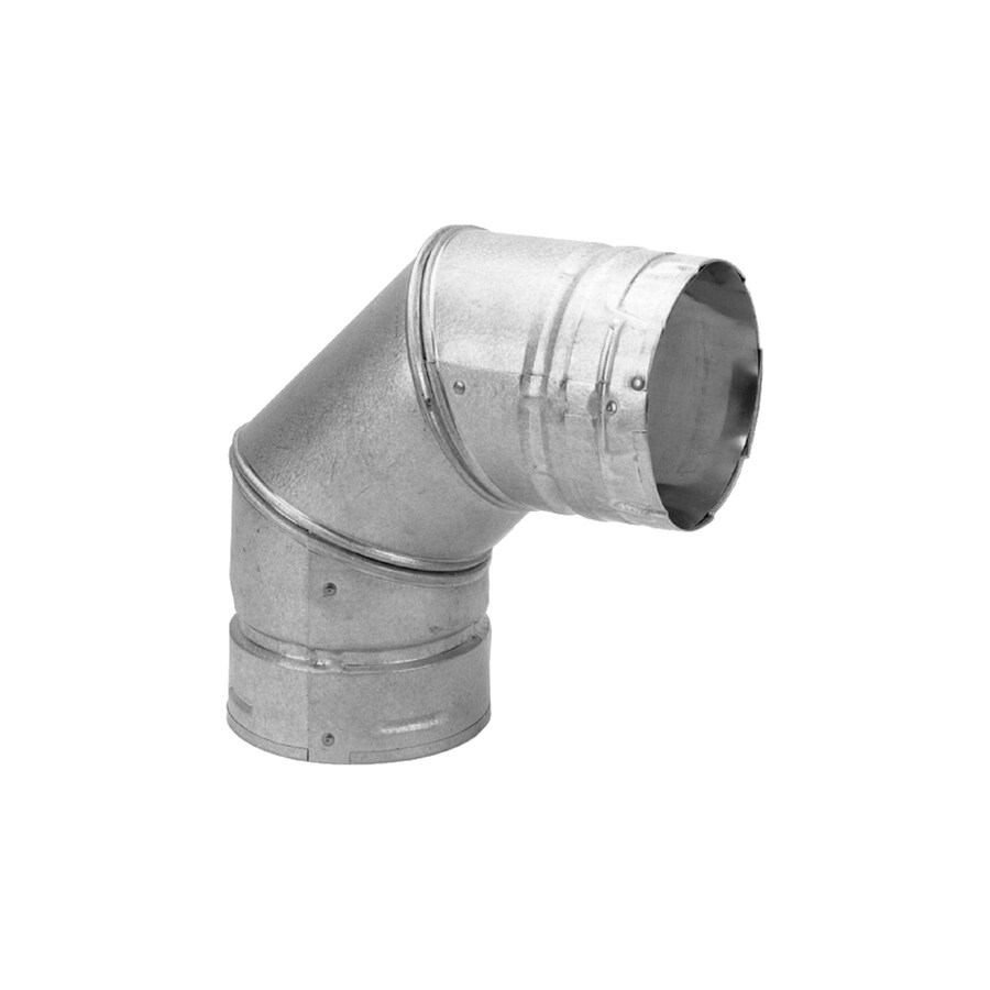 Simpson Dura-Vent Stainless Steel 90-Degree Elbow Pellet Stove Pipe