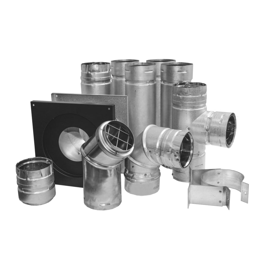 Shop Simpson Dura Vent Black And Silver 3 In Pellet Stove