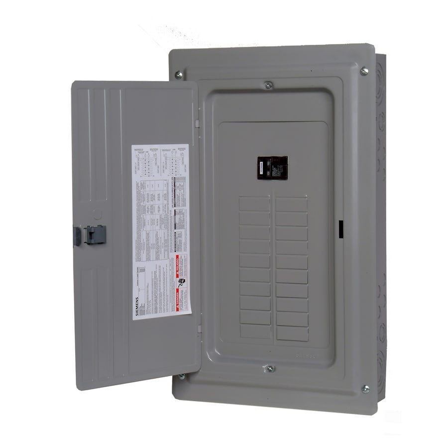 Siemens 20-Circuit 20-Space 100-Amp Main Breaker Load Center (Value Pack)
