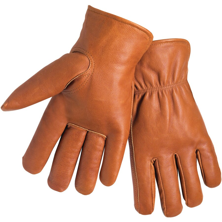 West Chester X-Large Men's Polyester Leather Palm Multipurpose Gloves