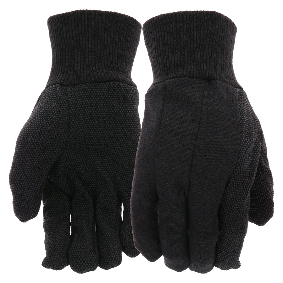 Blue Hawk Men's Large Brown/Tan Poly/Cotton Garden Gloves