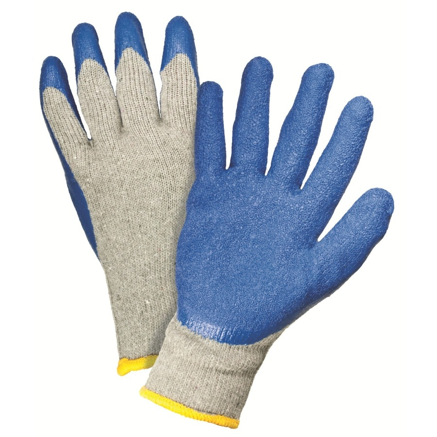 Blue Hawk 2-Pack Large Men's Rubber Work Gloves