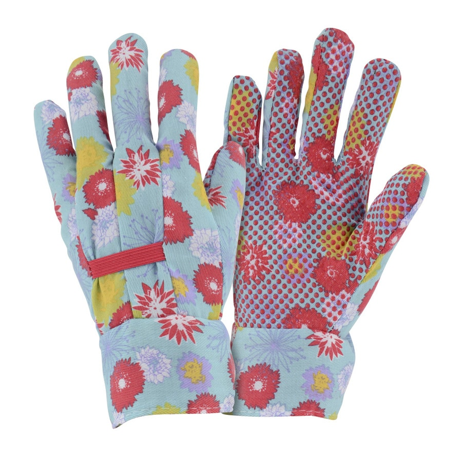 Style Selections Women's Large Multicolor Poly/Cotton Garden Gloves