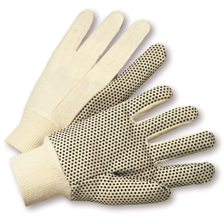Blue Hawk Large Men's Cotton Work Gloves