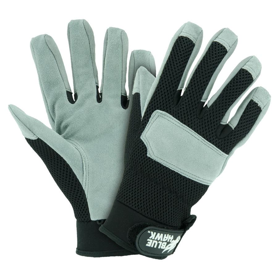 Blue Hawk X-Large Men's Leather Palm Work Gloves