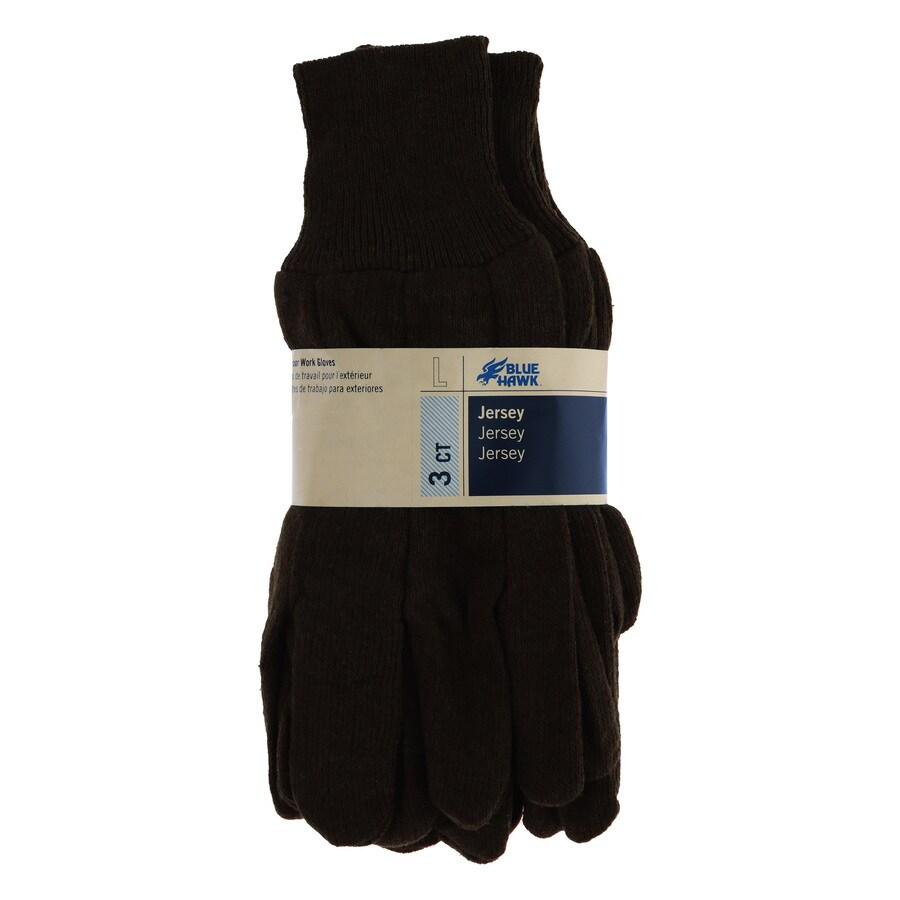 Blue Hawk 3-Pack Large Men's Poly/Cotton Work Gloves