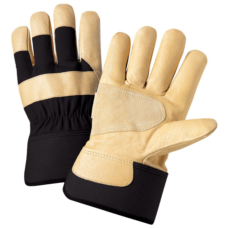 Blue Hawk X-Large Unisex Brown Multiple Material Insulated Winter Gloves