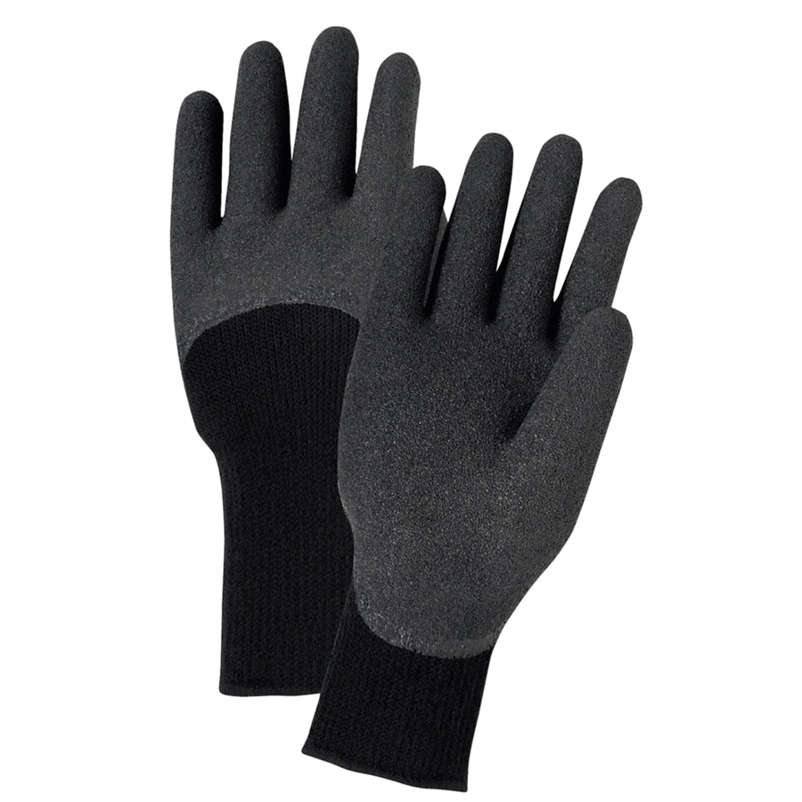 West Chester Large Male Black Rubber Insulated Winter Gloves