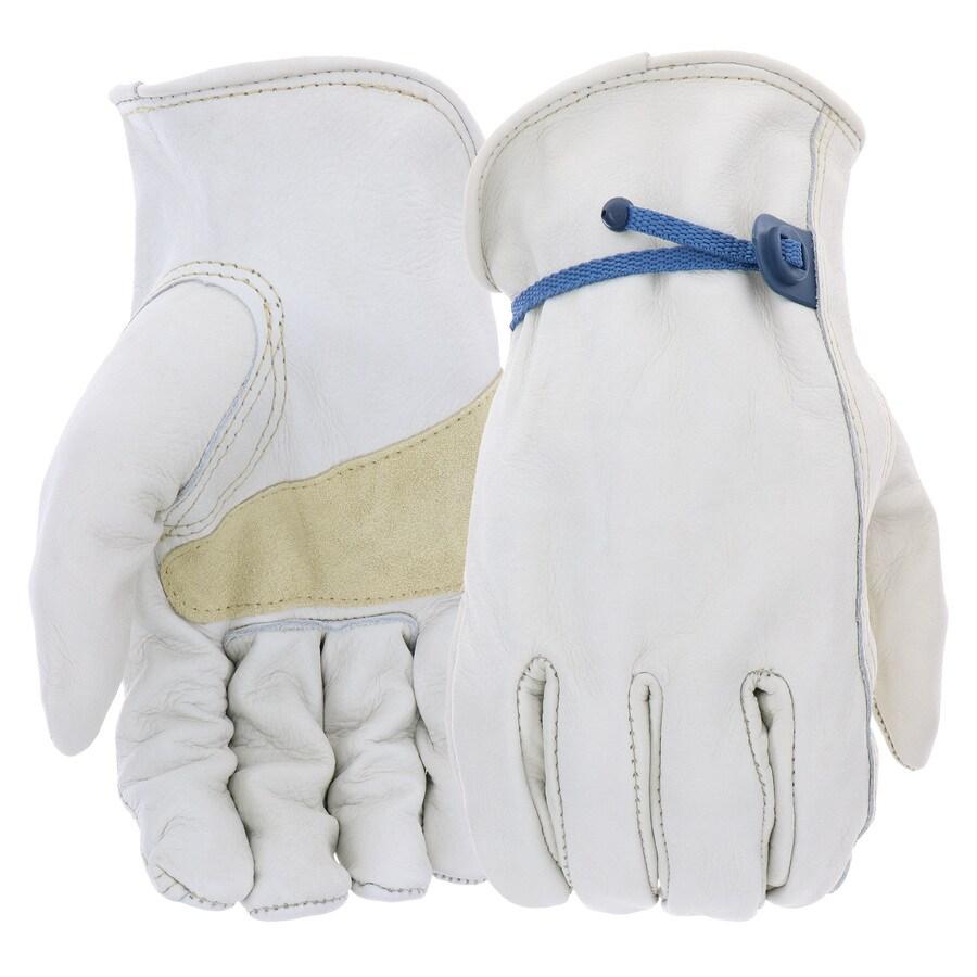 Blue Hawk Large Men's Leather Palm Work Gloves