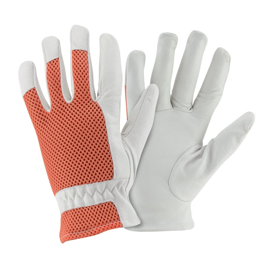 Style Selections Women's Large White Leather Garden Gloves