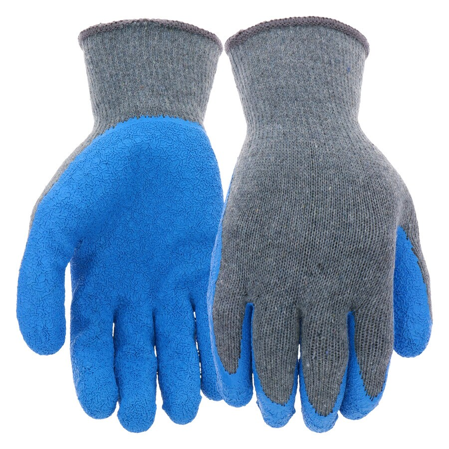Blue Hawk Small Unisex Poly/Cotton Latex-Coated Multipurpose Gloves