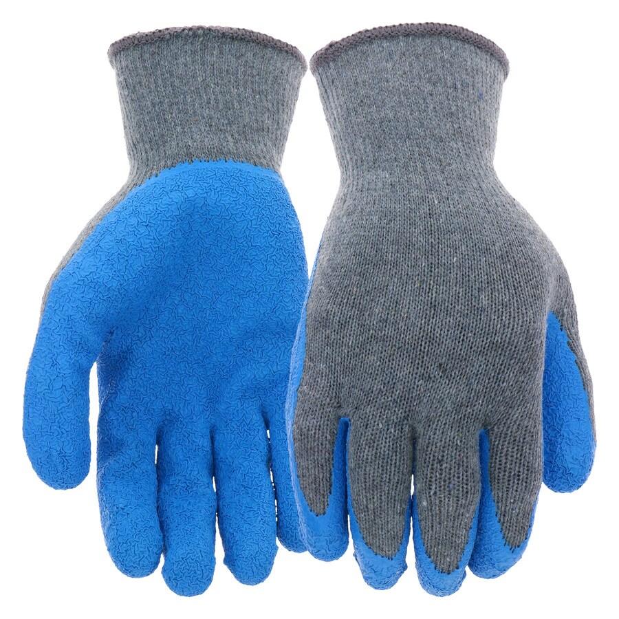 Blue Hawk Large Unisex Poly/Cotton Latex-Coated Multipurpose Gloves