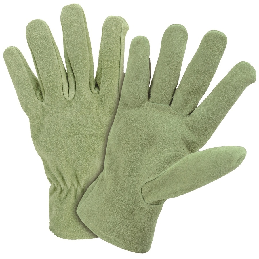 Style Selections Large Ladies' Leather Palm Work Gloves