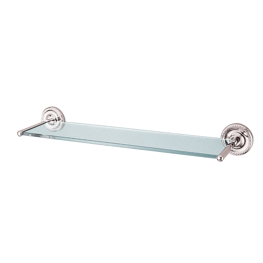 Kingston Brass Laurel Polished Chrome Glass and Solid Brass Bathroom Shelf
