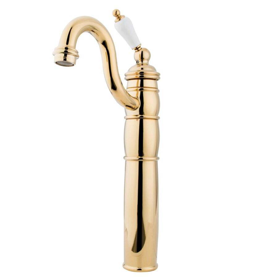 Kingston Brass Heritage Polished Brass 1-Handle Single Hole Bathroom Faucet