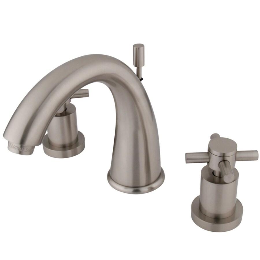Kingston Brass Concord Satin Nickel 2-Handle Widespread Bathroom Faucet (Drain Included)