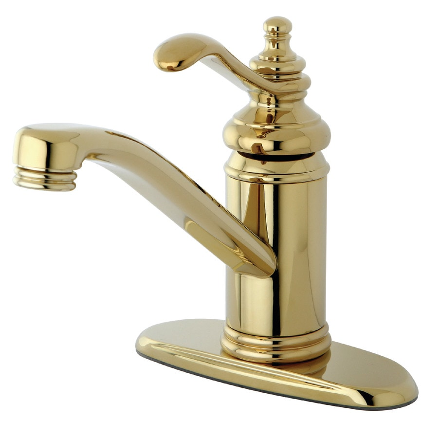 Kingston Brass Templeton Polished Brass 1-Handle 4-in Centerset Bathroom Faucet (Drain Included)