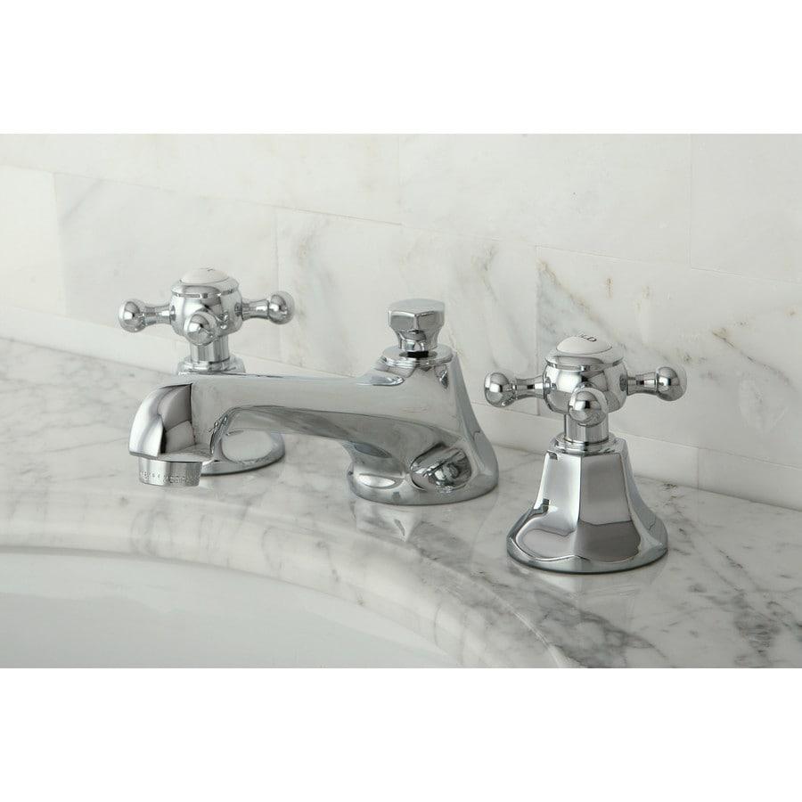 Kingston Brass Victorian Crystal Widespread Bathroom Faucet: Shop Kingston Brass Metropolitan Chrome 2-Handle Widespread Bathroom Faucet (Drain Included) At