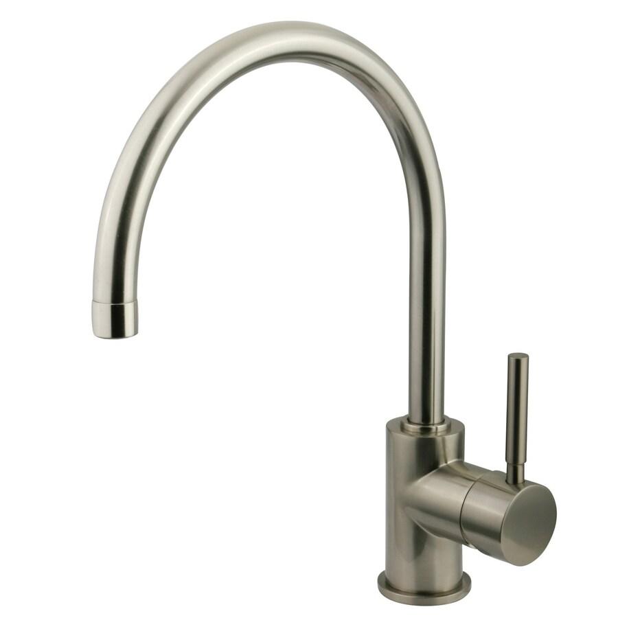 Kingston Brass Concord Satin Nickel 1-Handle Single Hole Bathroom Faucet