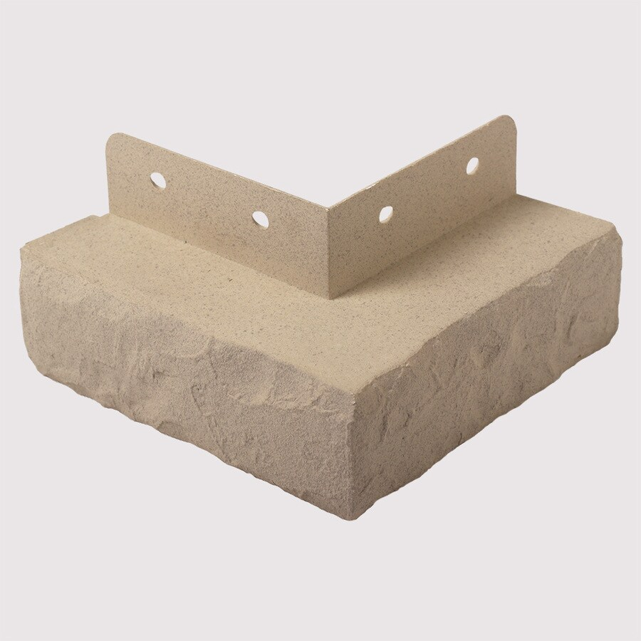 Exteria Building Products Premium Masonry 3.5-in x 11.5-in Clay Ledge Corners Stone Veneer Trim