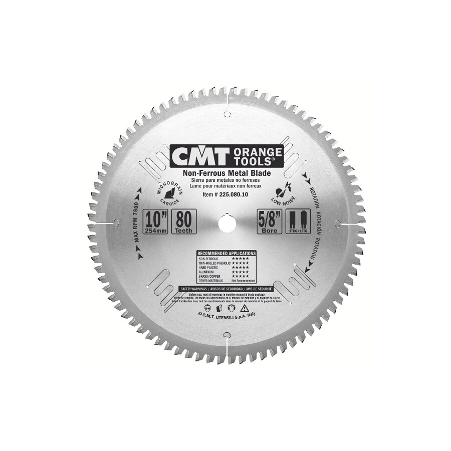 CMT 10-in 80-Tooth Continuous Carbide Circular Saw Blade