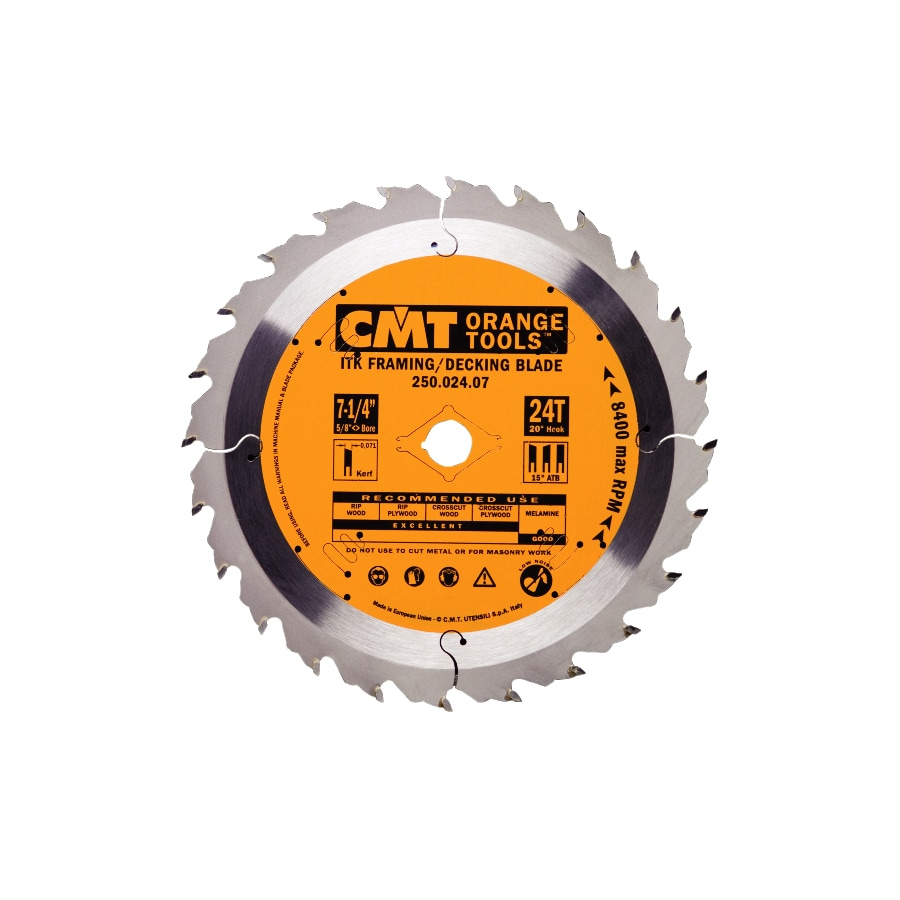 CMT 7-1/4-in 24-Tooth Continuous Carbide Circular Saw Blade
