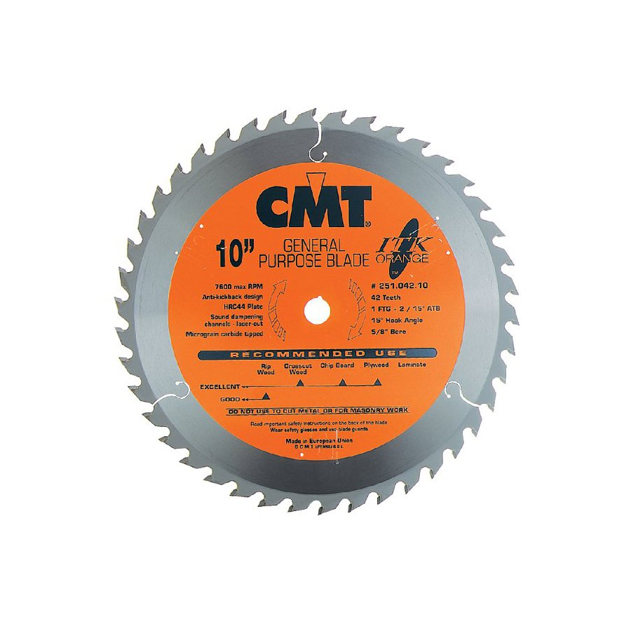CMT 10-in 42-Tooth Continuous Carbide Circular Saw Blade