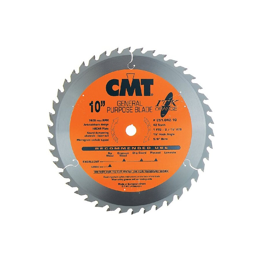 CMT 12-in 45-Tooth Continuous Carbide Circular Saw Blade