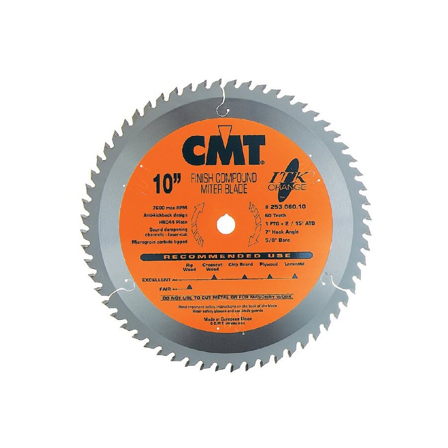 CMT 8-1/2-in 60-Tooth Continuous Carbide Circular Saw Blade