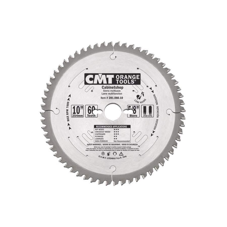 CMT 10-in 60-Tooth Continuous Carbide Circular Saw Blade
