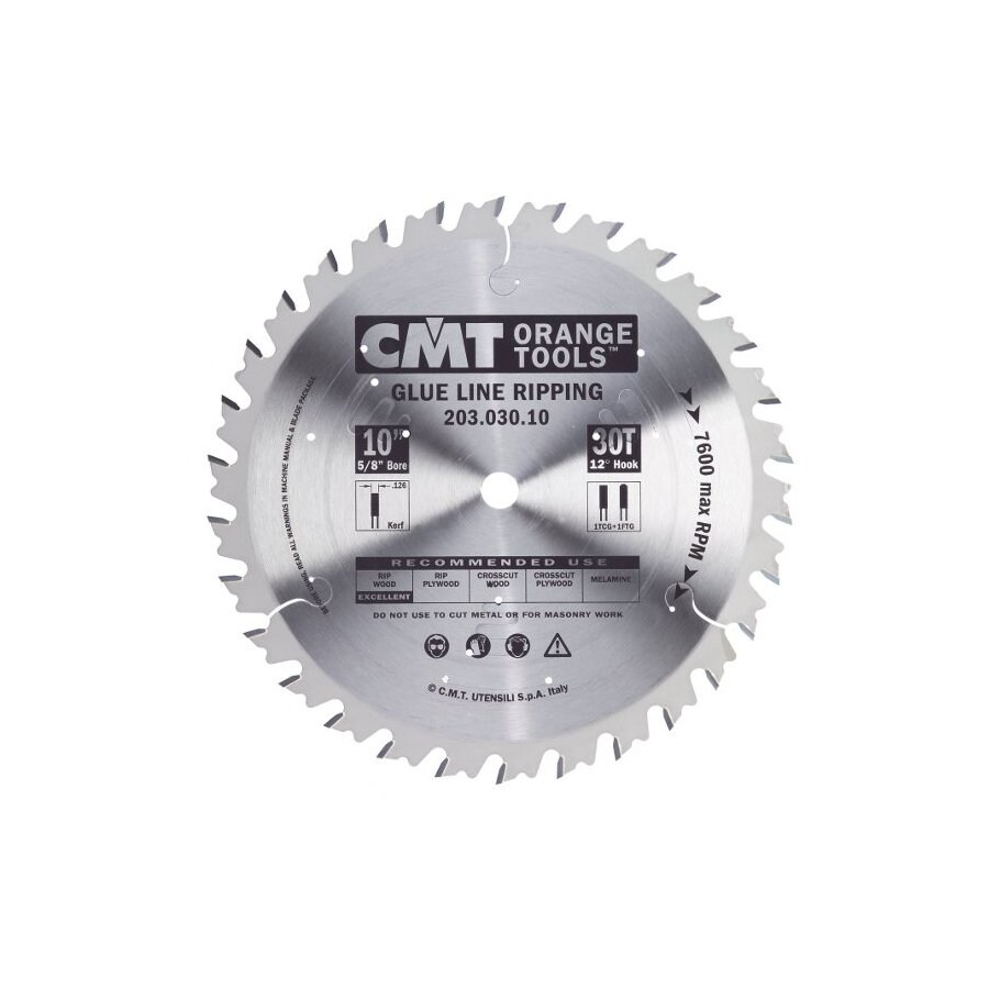 CMT 10-in 30-Tooth Continuous Carbide Circular Saw Blade