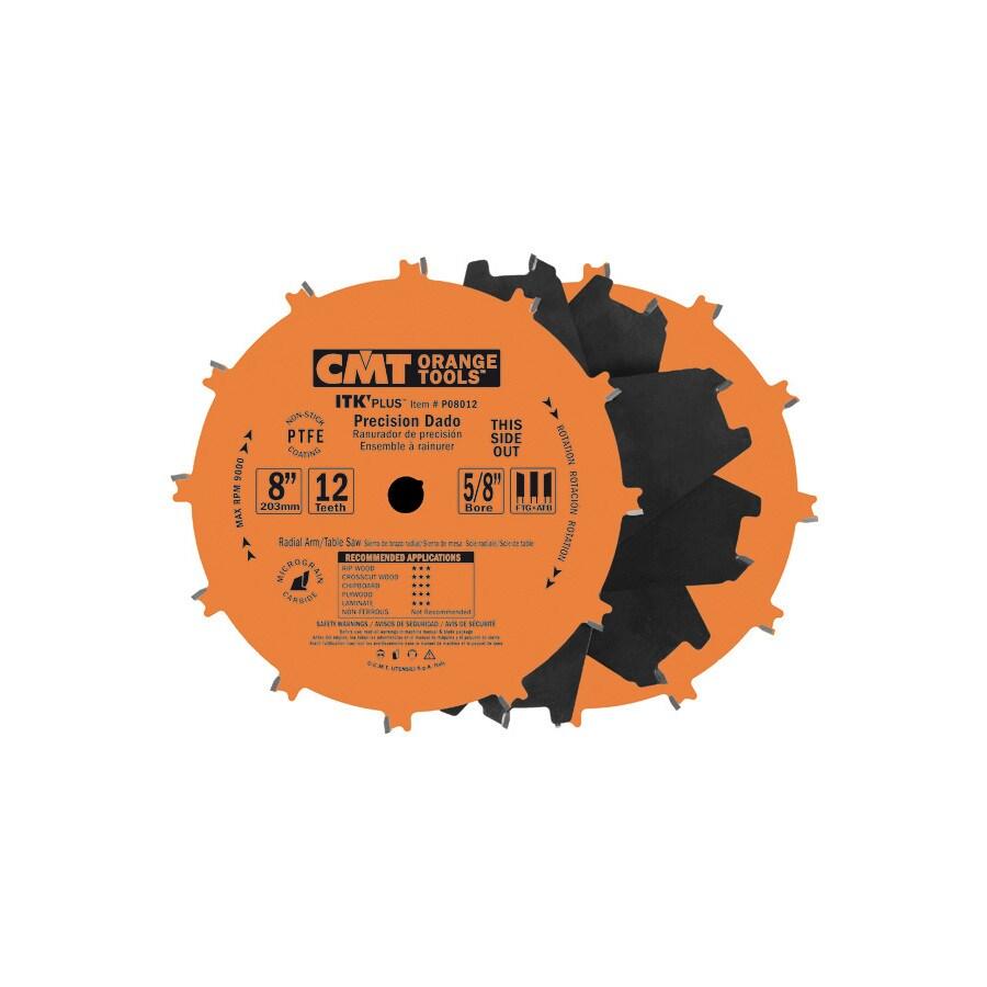 CMT 8-in 12-Tooth Dado Circular Saw Blade Set