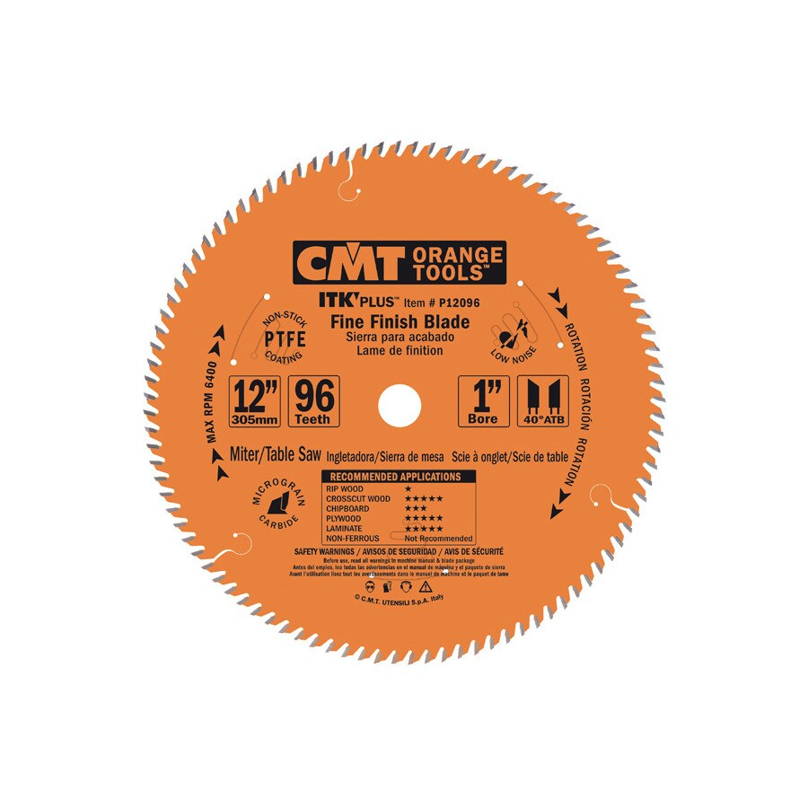 CMT 12-in 96-Tooth Continuous Carbide Circular Saw Blade
